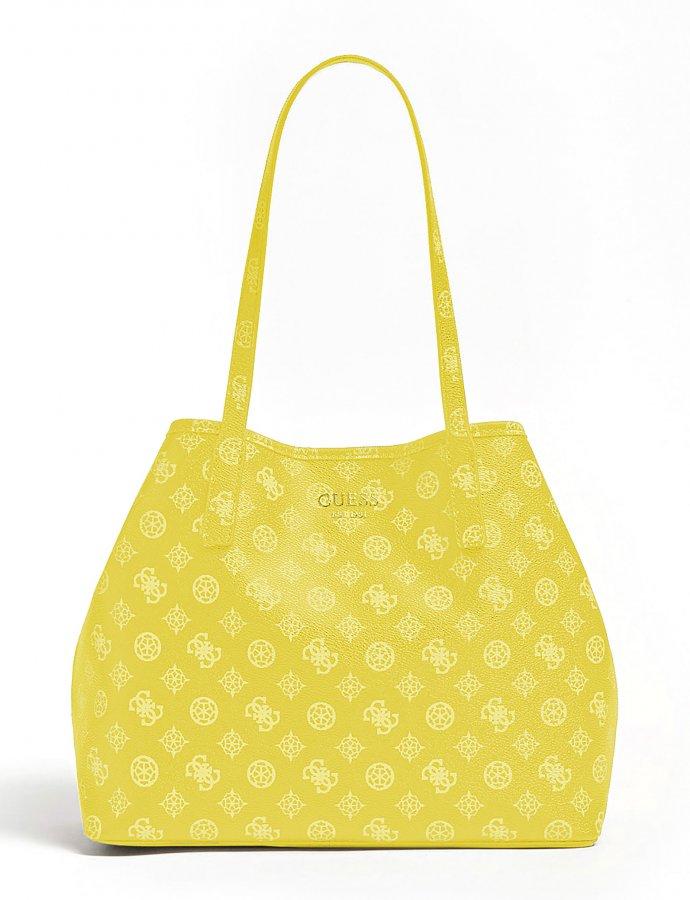 Vikky large tote bag lemon