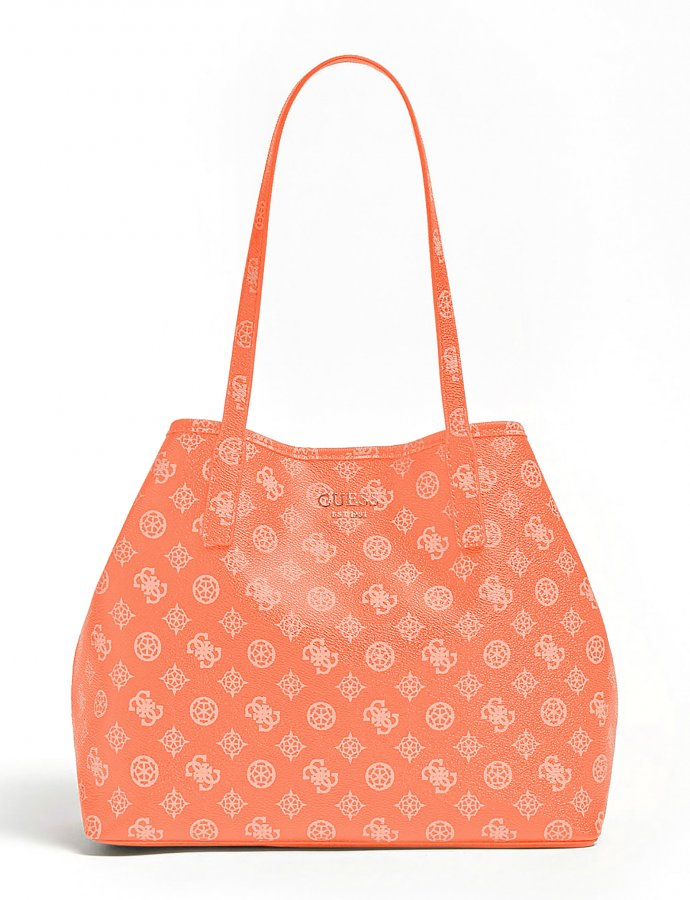 Vikky large tote bag coral