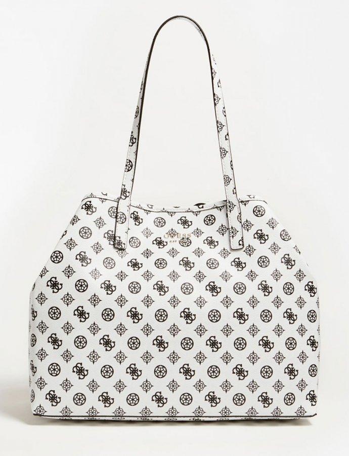 Vikky large tote bag white