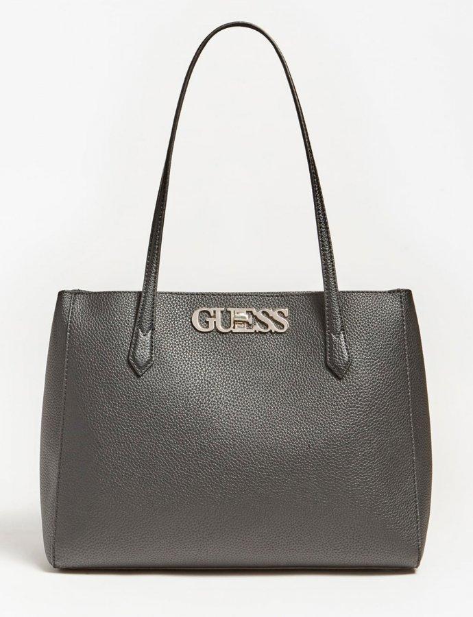 Uptown chic elite tote bag black