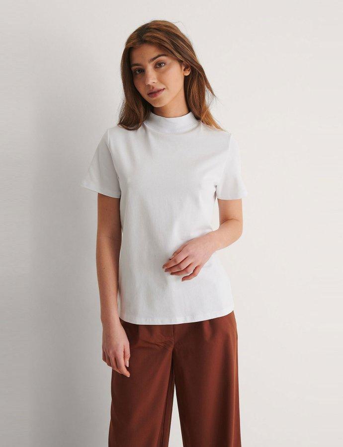 High neck t-shirt off-white