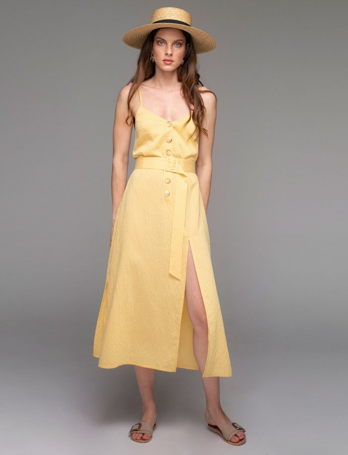 Hyeres dress yellow