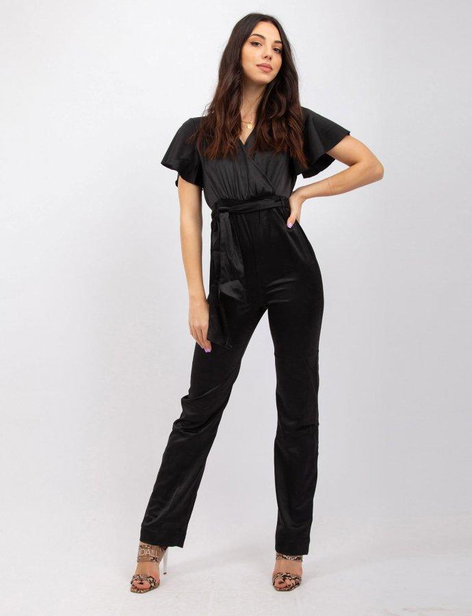 Satin black jumpsuit