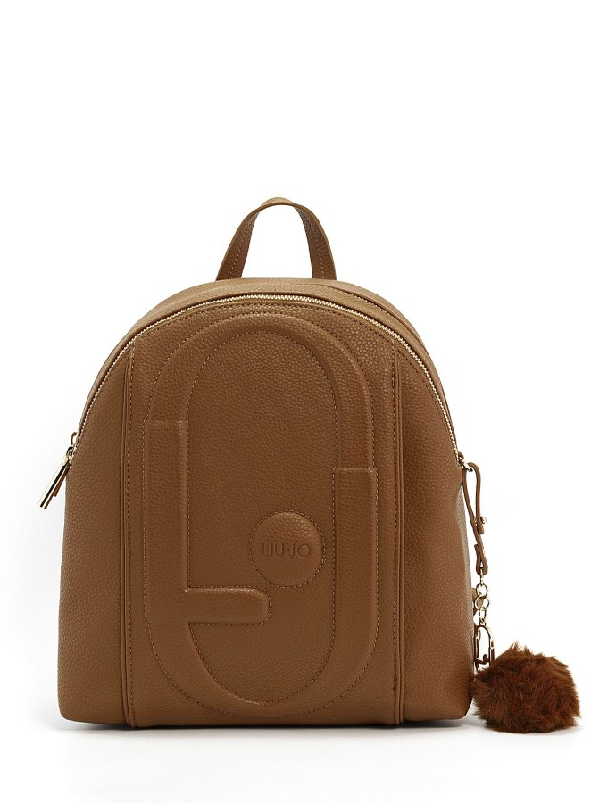 Backpack with quilted logo deer