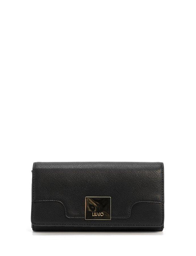 Large bifold wallet nero