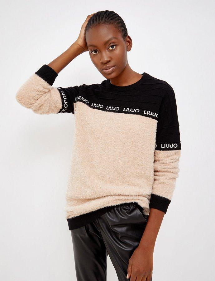 Maxi plush-effect jumper
