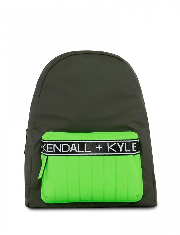 Linz backpack khaki/neon green