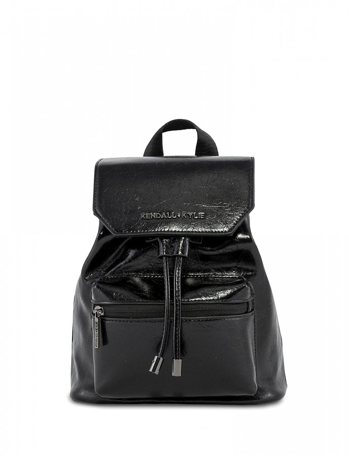 Serena small backpack crinkled black