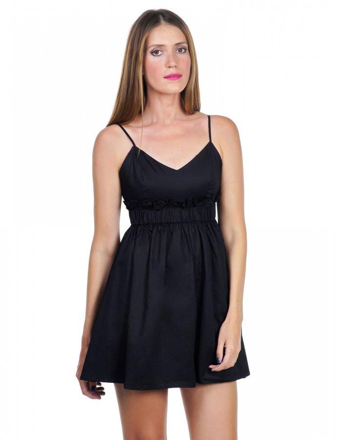 Mini poplin dress
