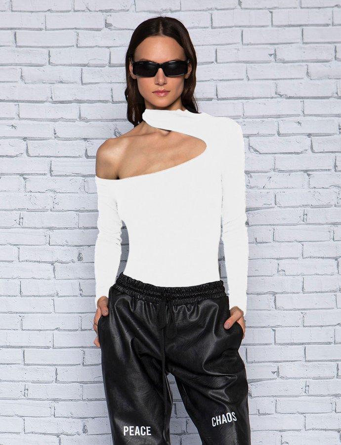 Kat white bodysuit