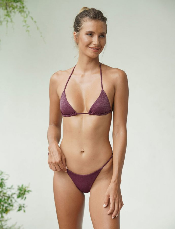 Leticia burgundy bikini