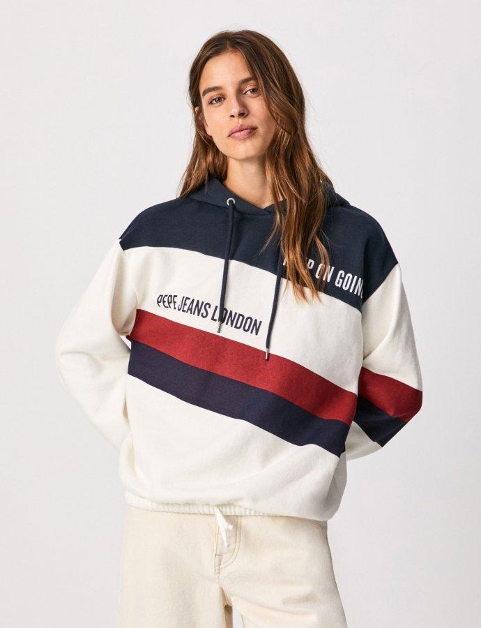 Lluna colour block sweatshirt off white