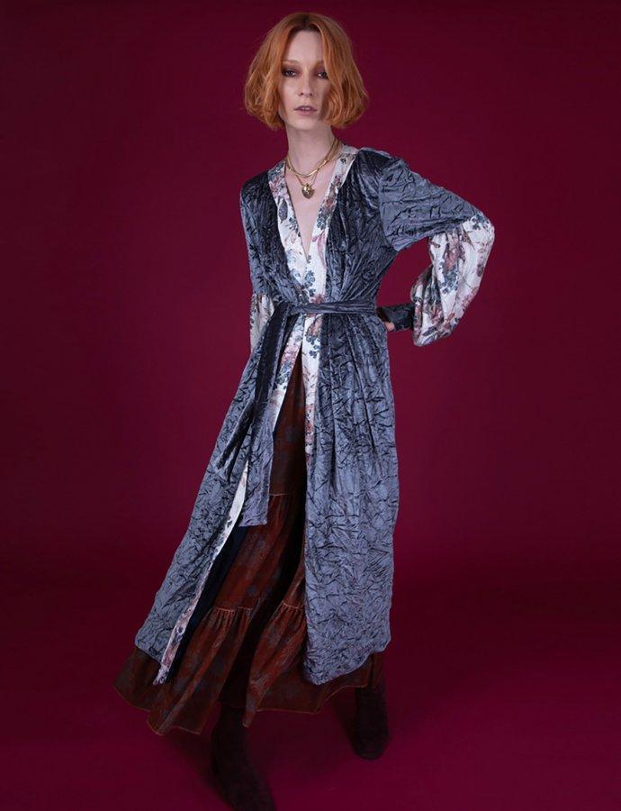 Maia grey kimono