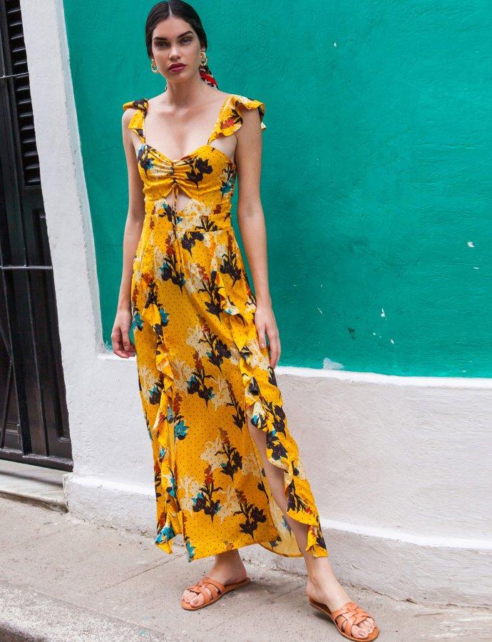 Manguita yellow dress