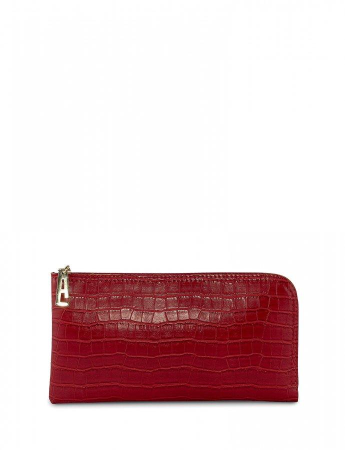 Mini clutch bag red croco
