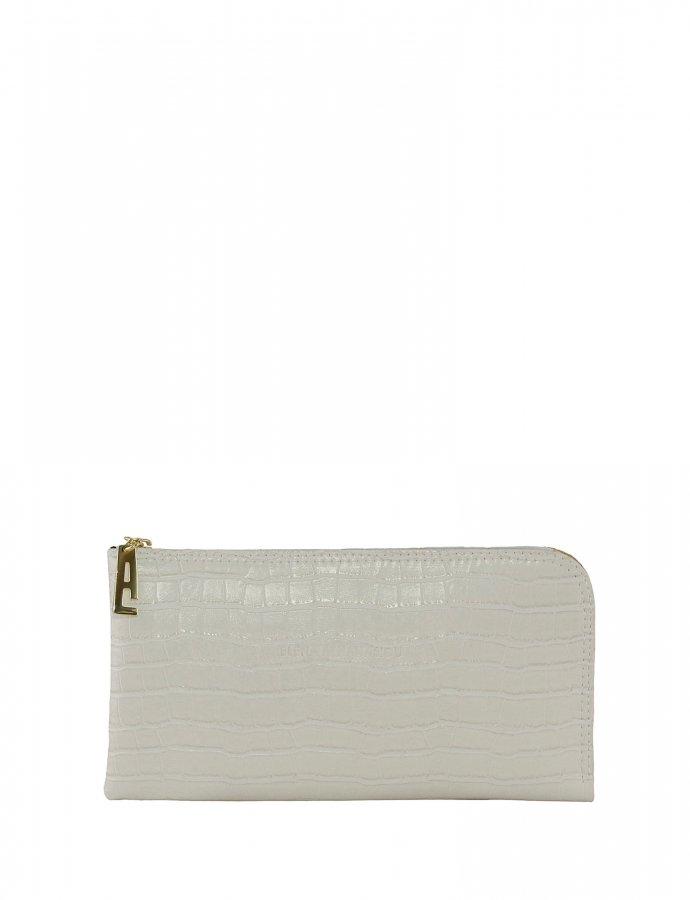 Mini clutch bag white croco