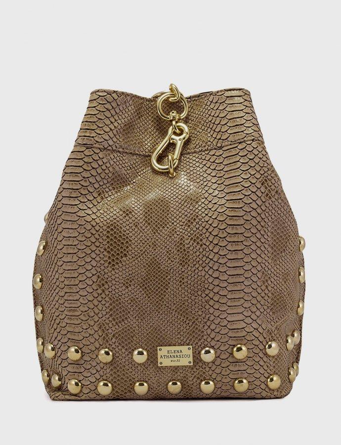 Backpack mocha snake