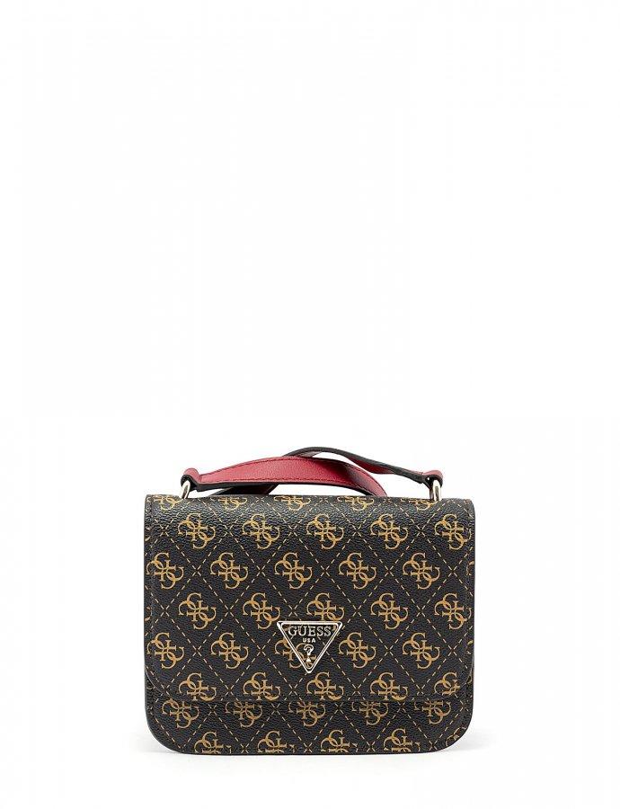 Noelle mini crossbody bag brown