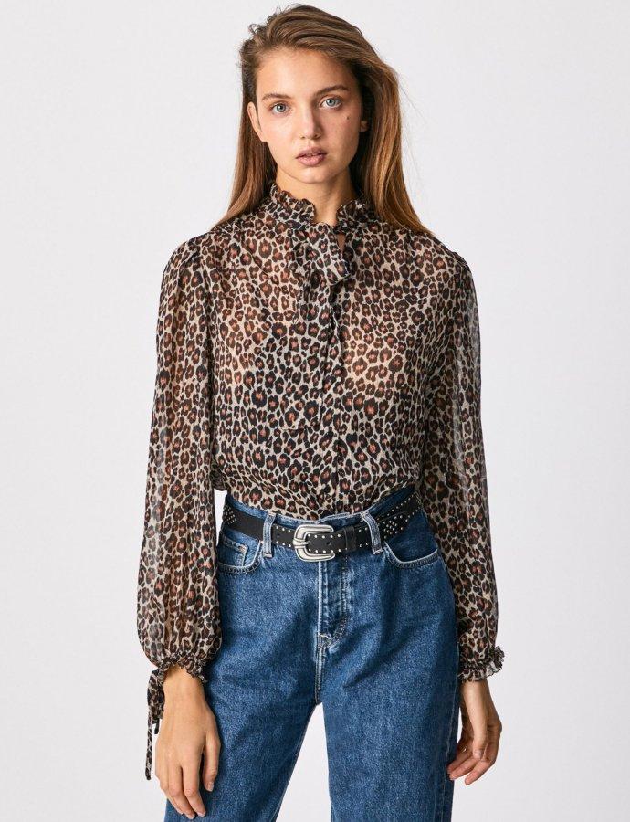 Annie blouse animal print