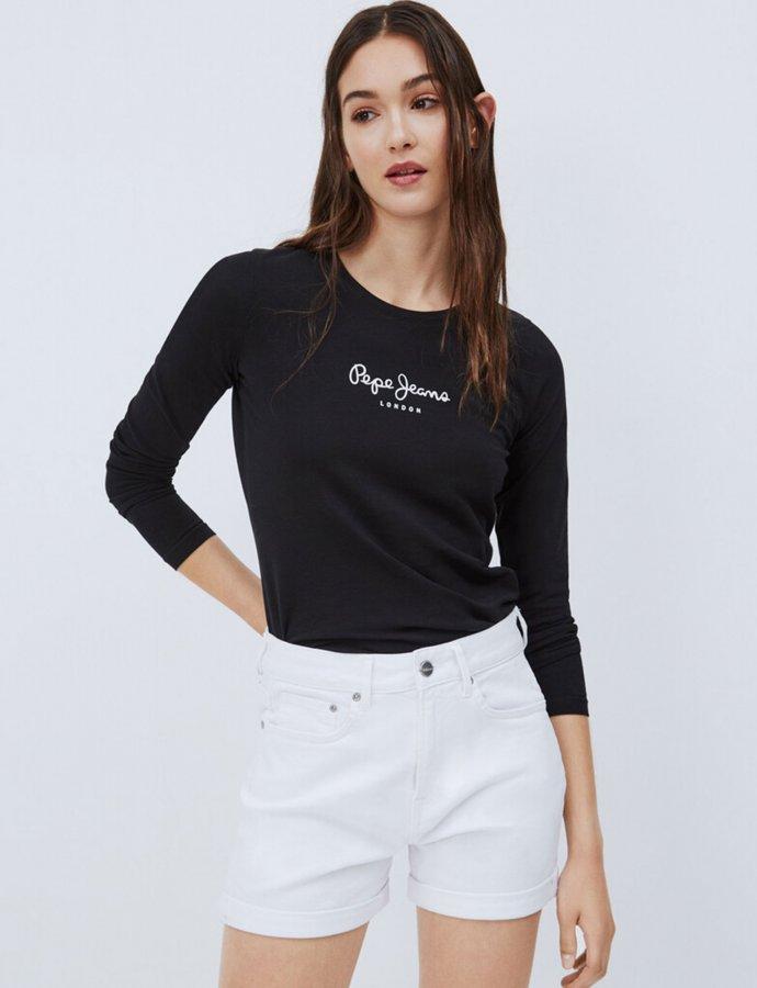 New Virginia long sleeve t-shirt black