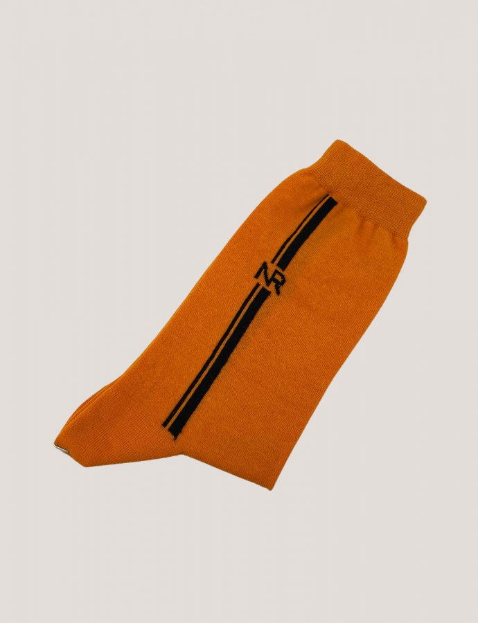 Lines n logo socks orange