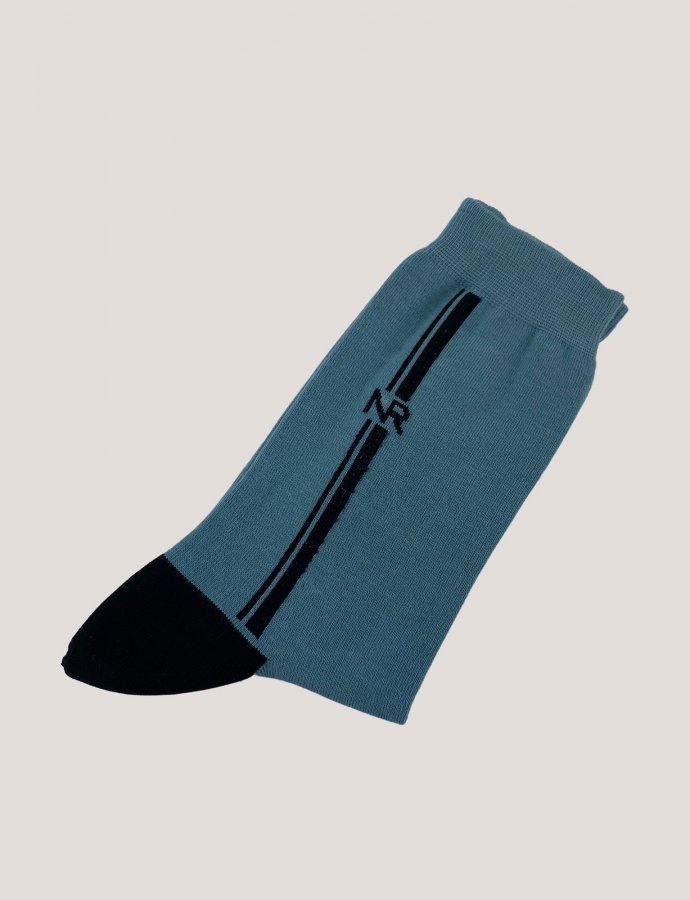 Lines n logo socks baby blue