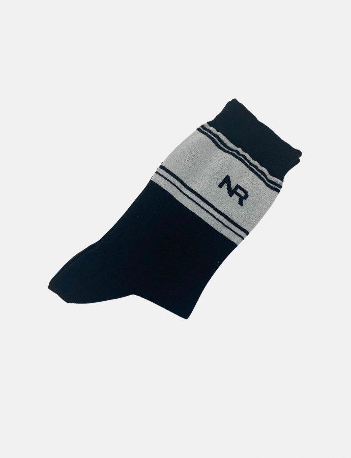 Stripes n logo socks black