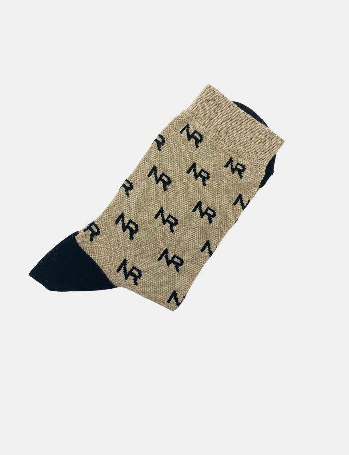Full in logo socks sand