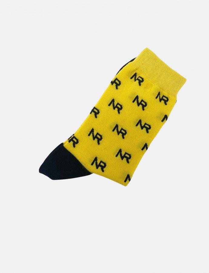 Full in logo socks yellow