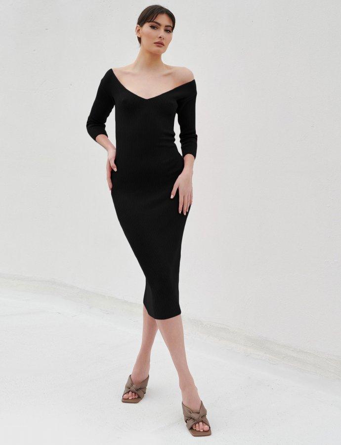 Combos S18 – Black midi dress 3/4