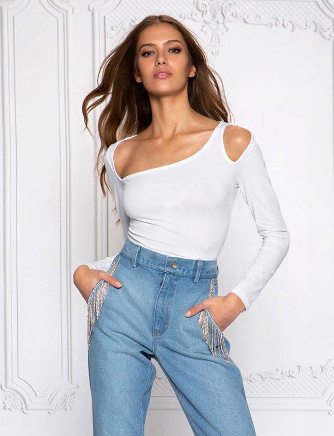 Sassy bodysuit white