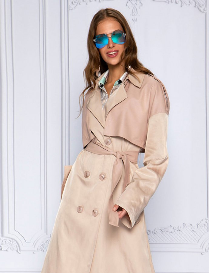 Nude lover trench coat