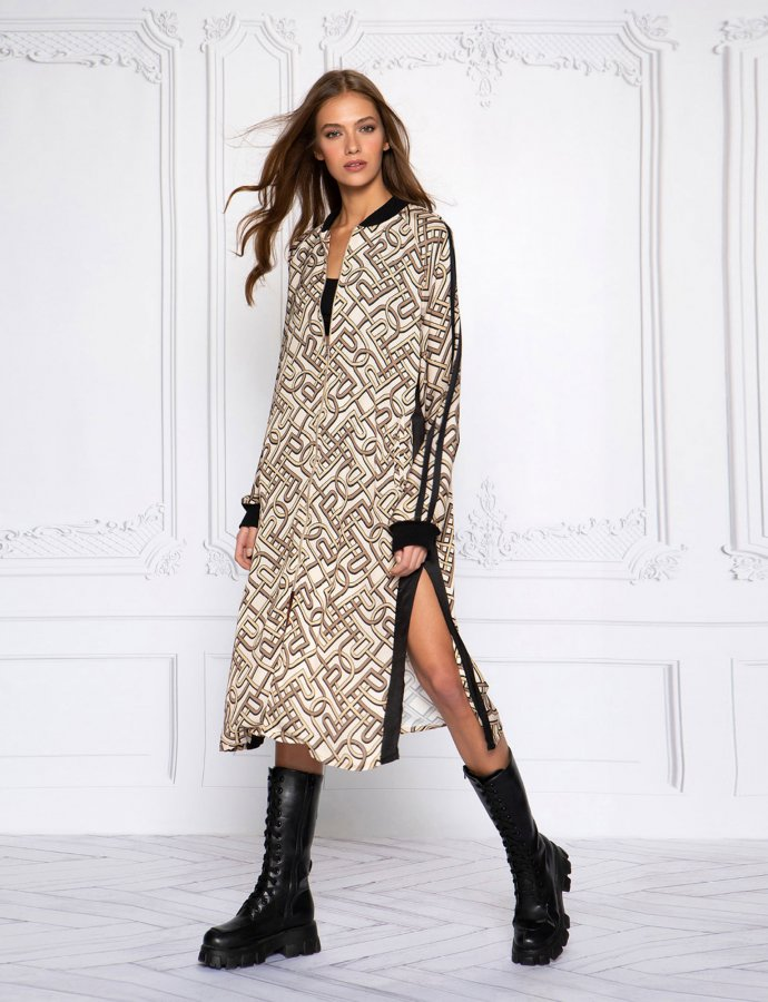 P&C pattern long jacket