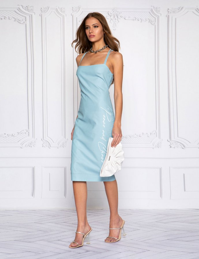 Eco leather chic dress
