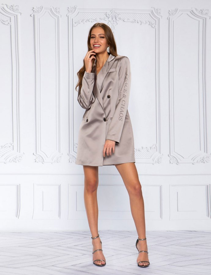 Satin elegance blazer dress