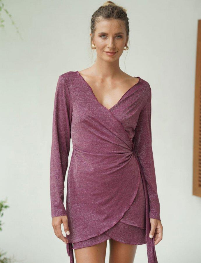 Shirt-dress burgundy