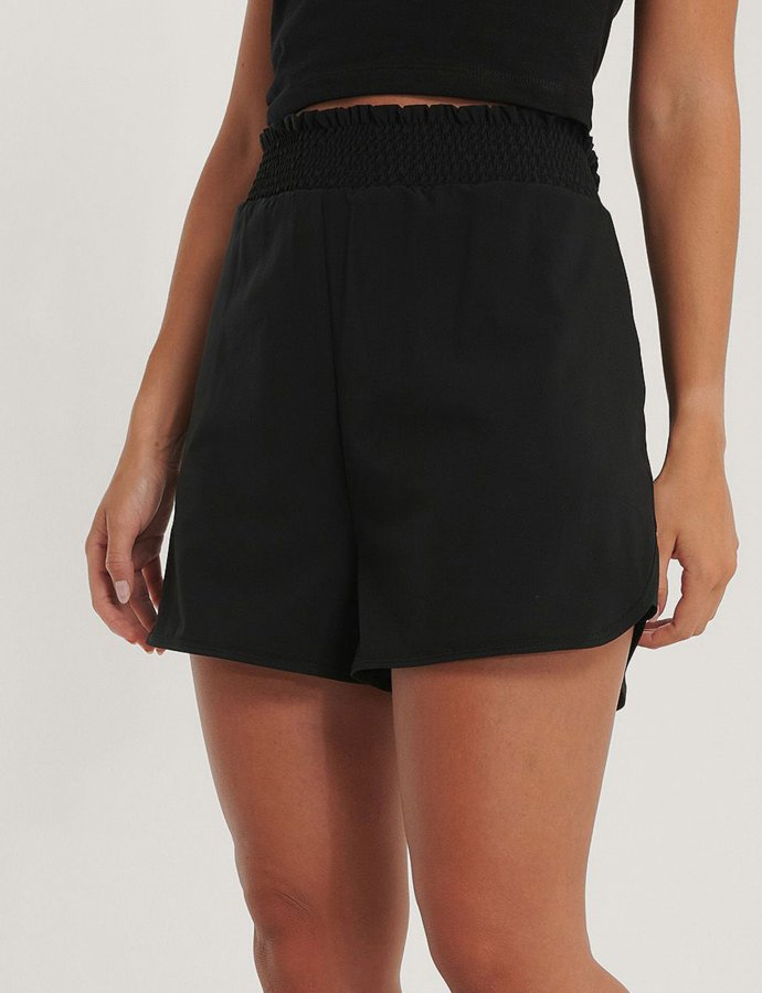 Smocked waist sporty shorts