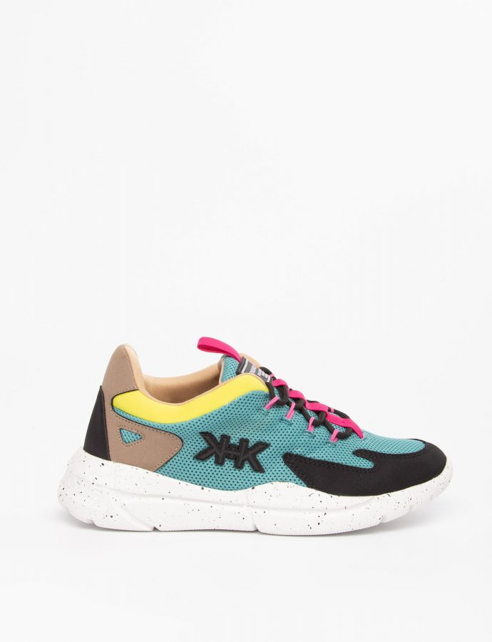 Noemi sneakers black/teal/yellow