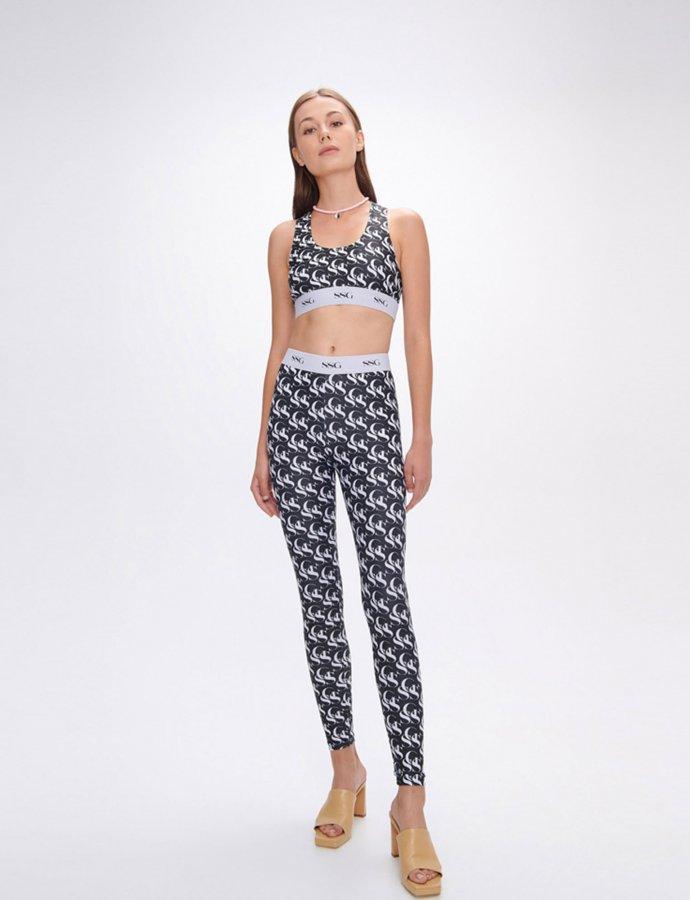 Avonia SSG black & white leggings