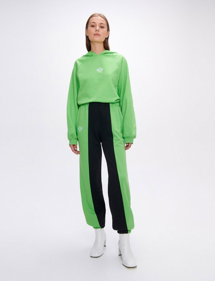 Nadine rackets green/black track pants
