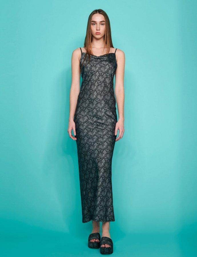 July dress black paisley