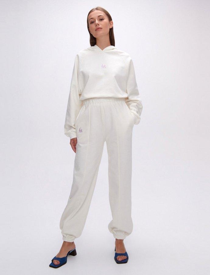 Nadine SSG white track pants