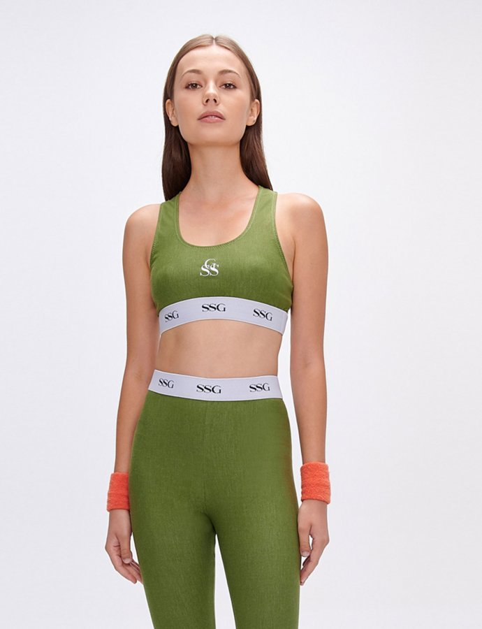 Kelly green eco jean top
