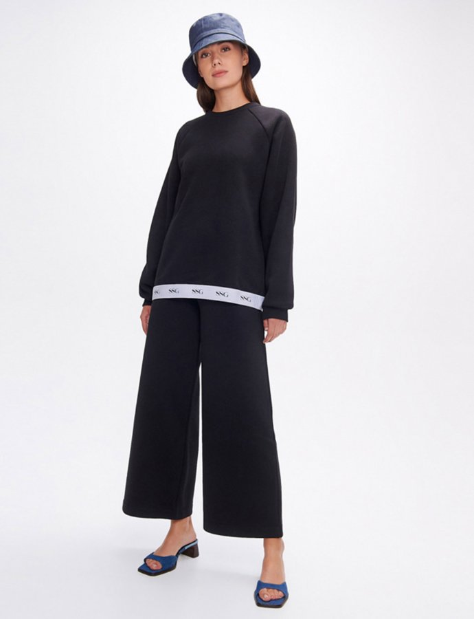 Valerie black wide leg pants