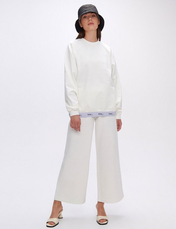 Valerie white wide leg pants