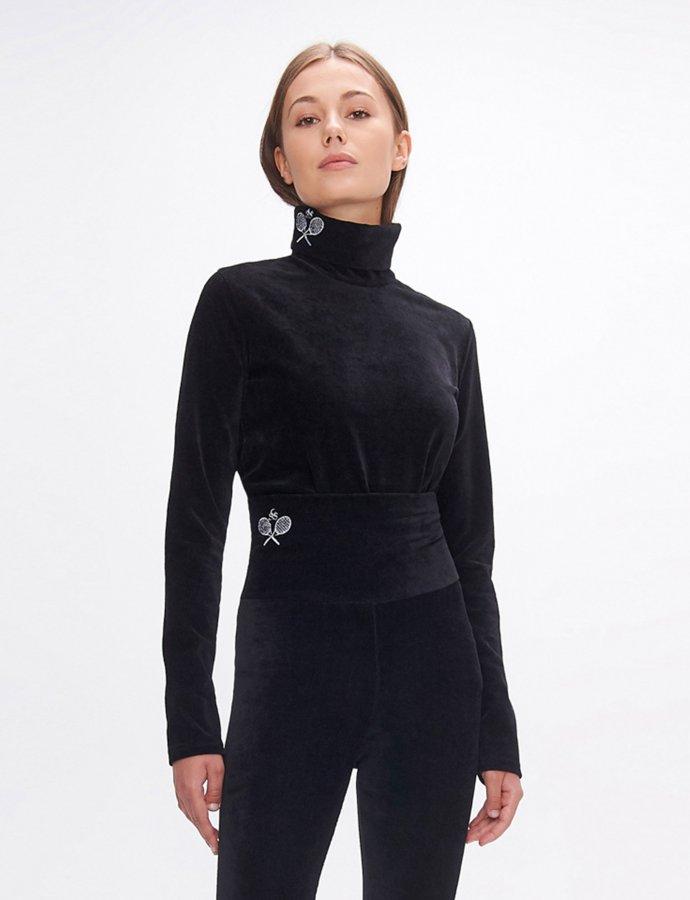 Dona black turtleneck top