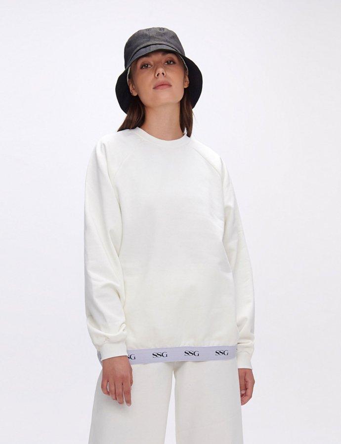 Valerie white sweatshirt