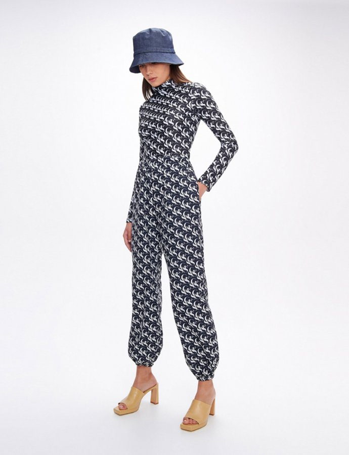 Steeze SSG black & white track pants