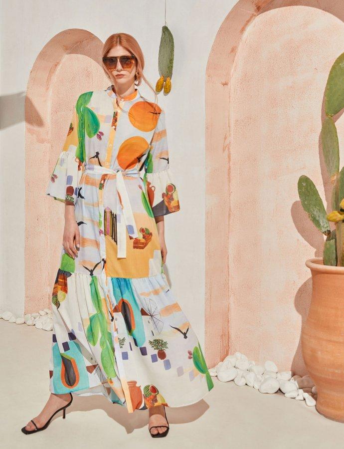 Sway maxi dress cactus print