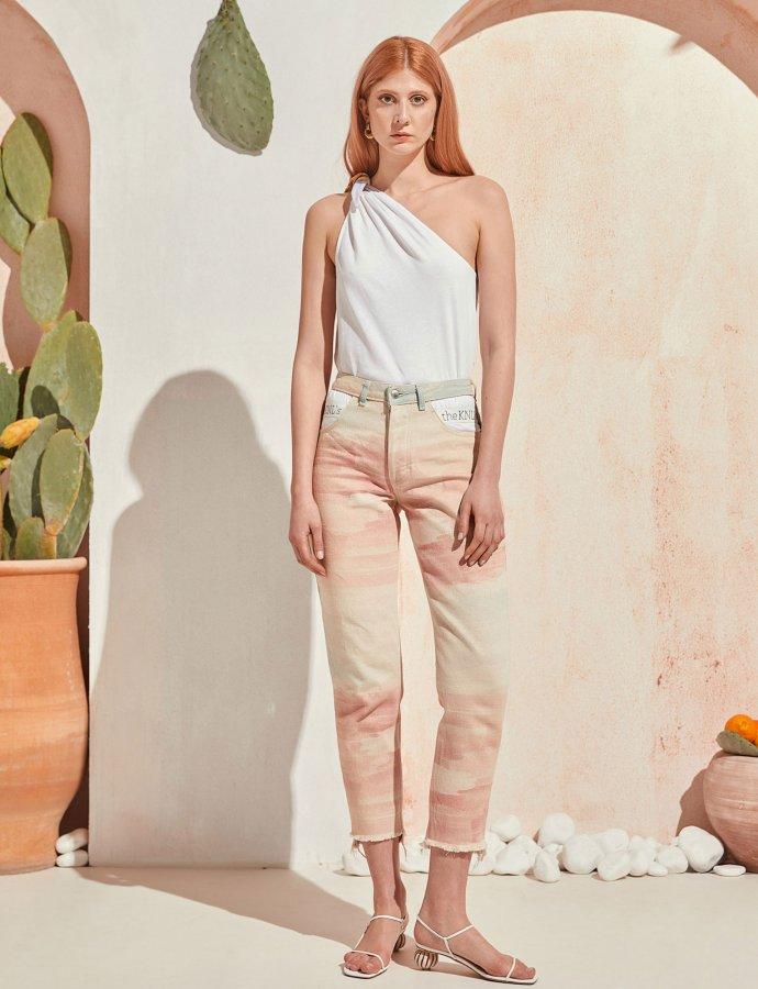 Burst jeans sky dye